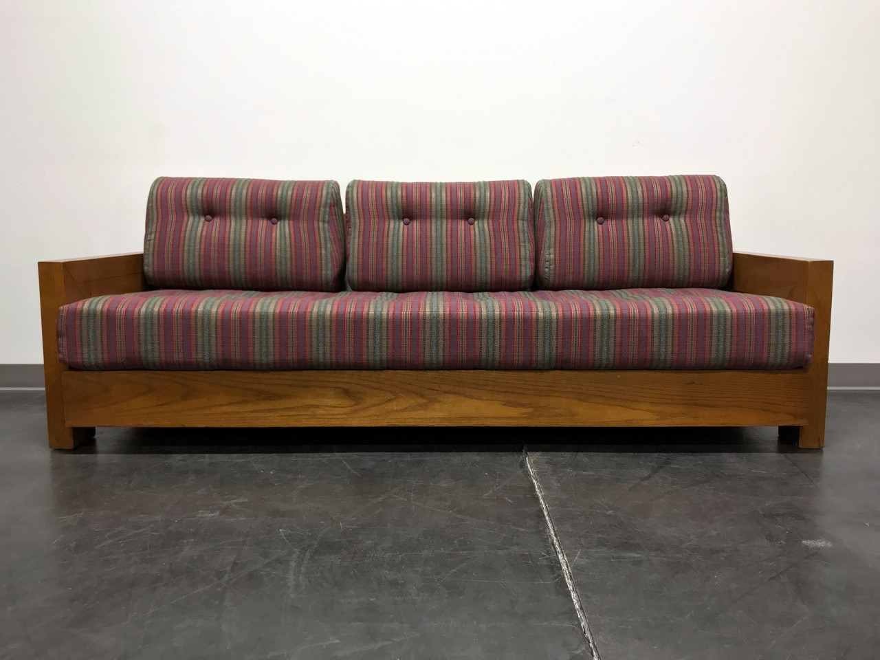 Sold Out Mid Century Modern Mcm Wooden Frame Sofa