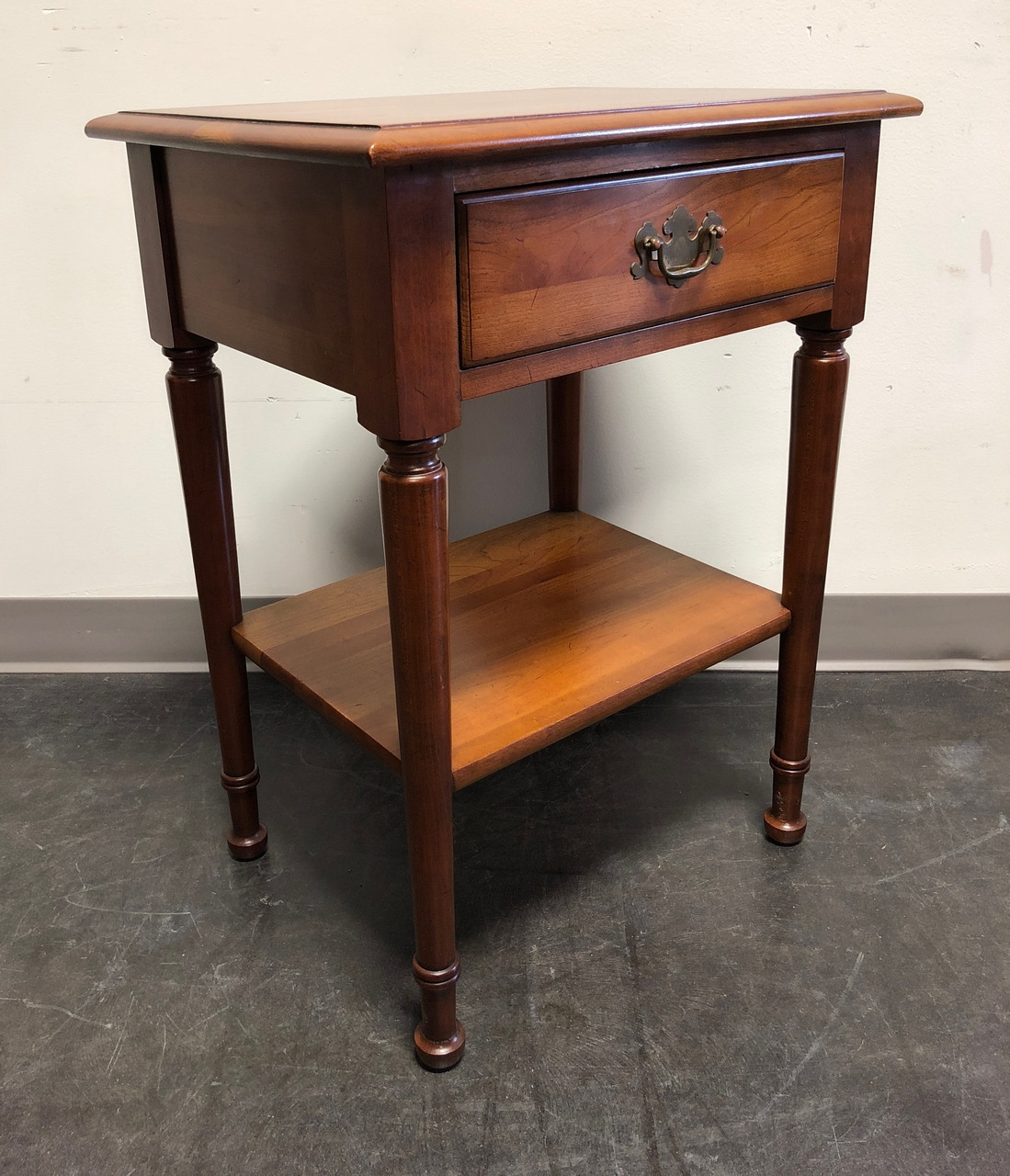 Sold Solid Cherry Chippendale Nightstand By Cherry Hill Collection
