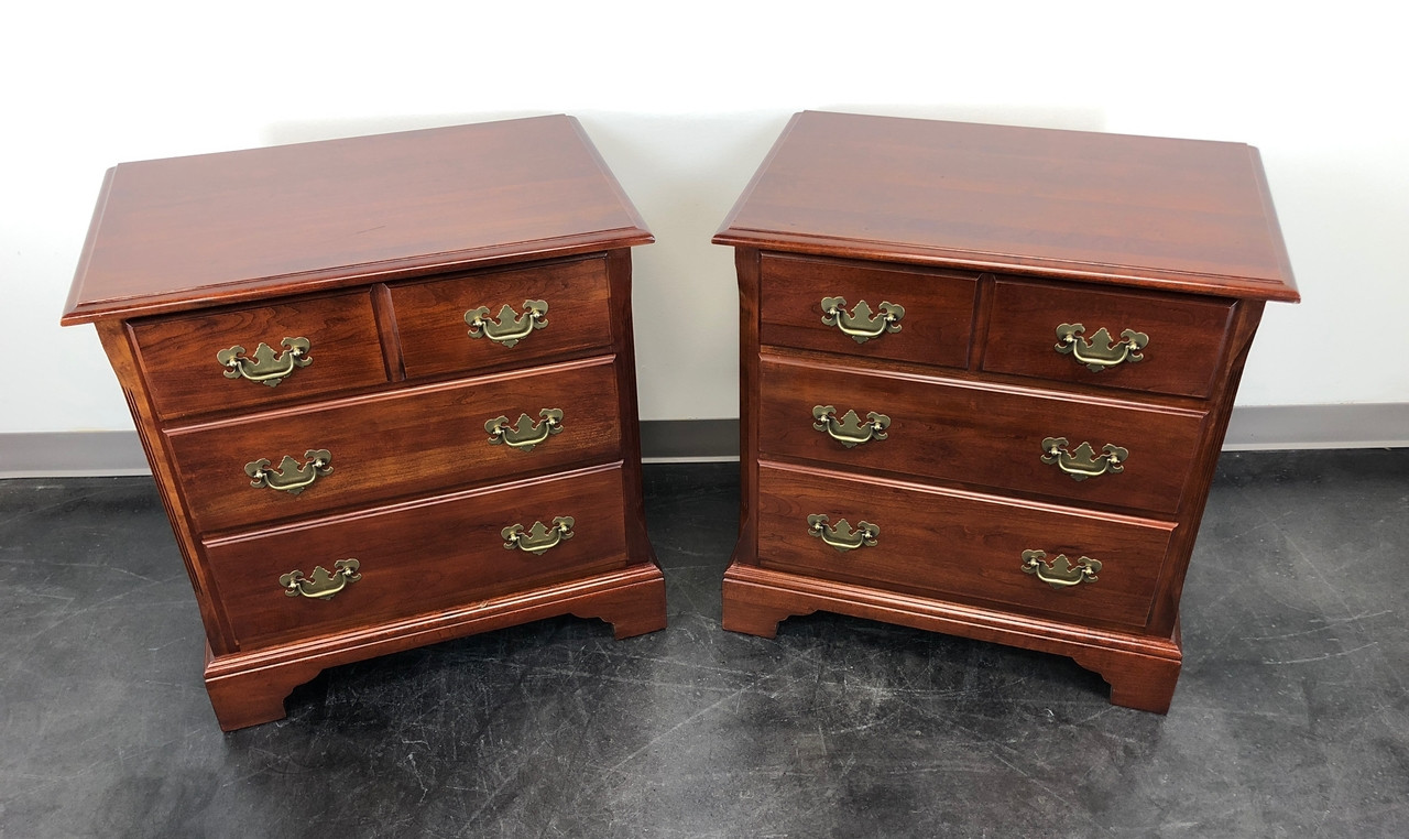Sold Out Cresent Solid Cherry Chippendale Nightstands Bedside Chests