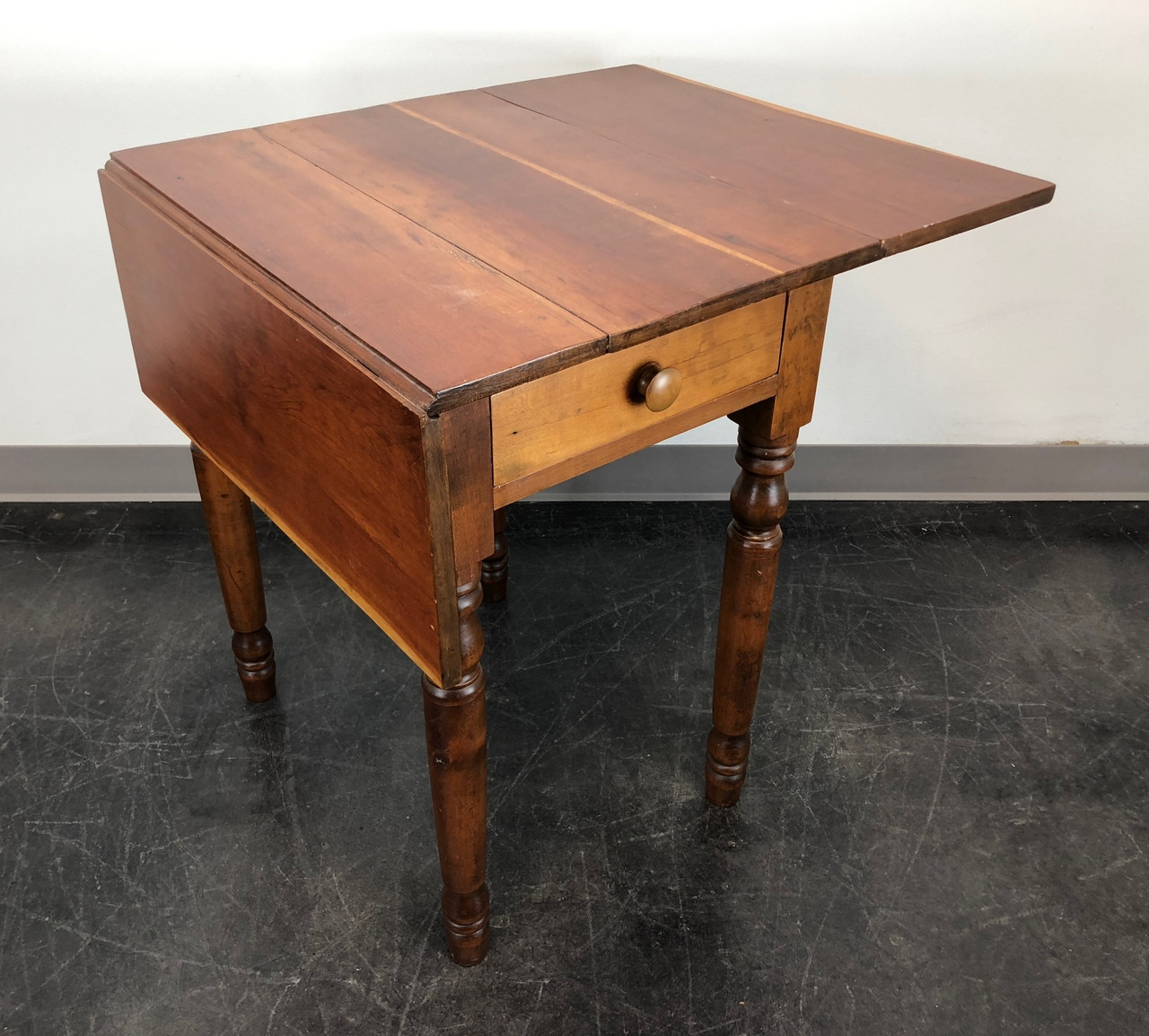 Cherry Drop Leaf Two Drawer Lamp Table By Pennsylvania House Antiques
