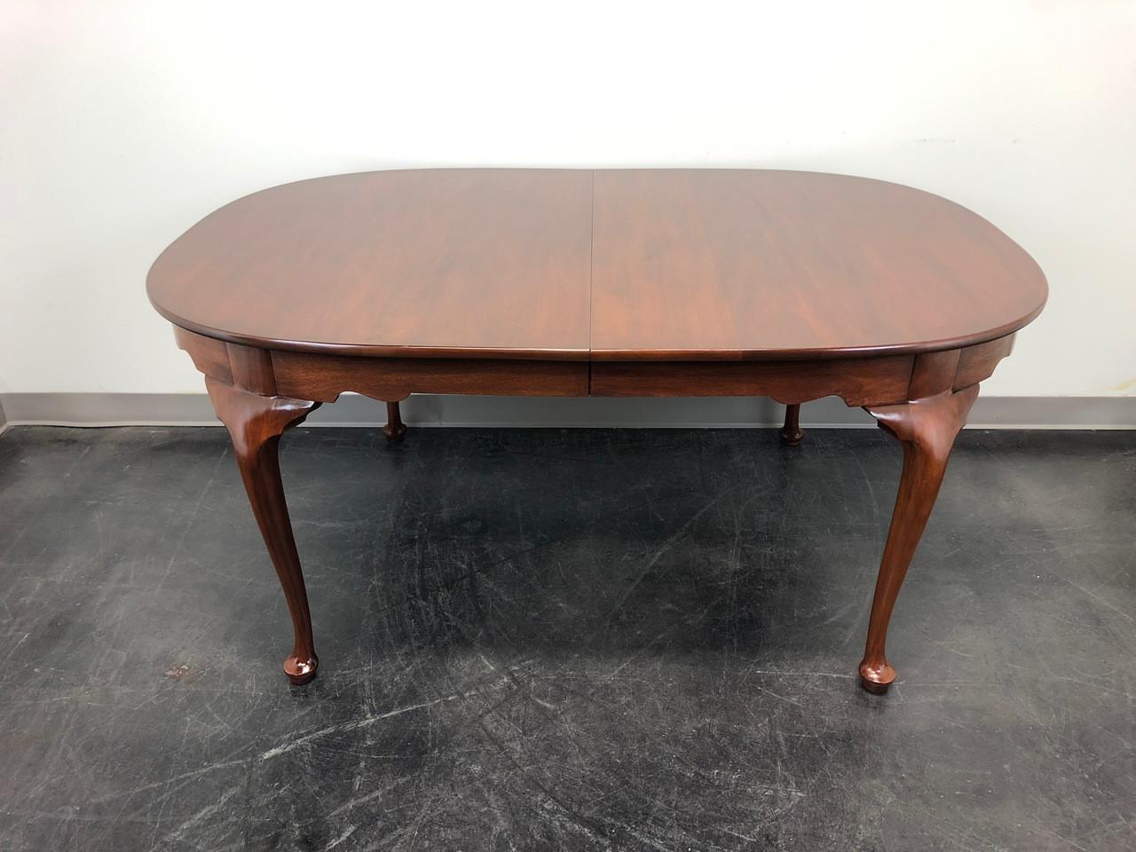 queen anne dining table white henkel harris solid mahogany queen anne dining table 2211 finish 29