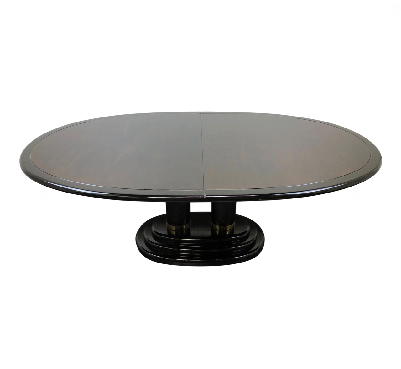 SOLD OUT - HENREDON Scene Three Asian Chinoiserie Burl & Black Lacquer  Dining Table