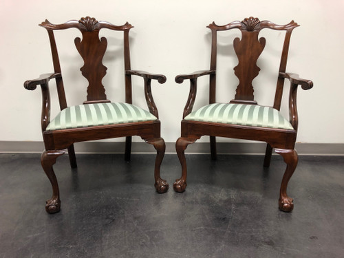 HENKEL HARRIS Model 102 A Chippendale Ball Claw Dining Armchairs - Pair