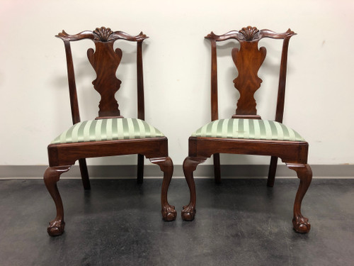 HENKEL HARRIS Model 102 S Chippendale Ball Claw Dining Side Chairs - Pair 1