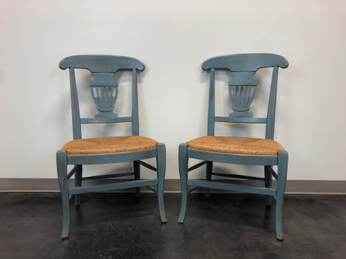 Country Cottage Shabby Chic Painted Distressed Dining Chairs - Pair B