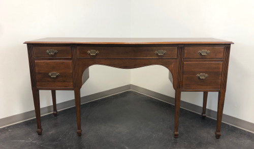 DAVIS CABINET Co Solid Mahogany Federal Style Sideboard / Huntboard