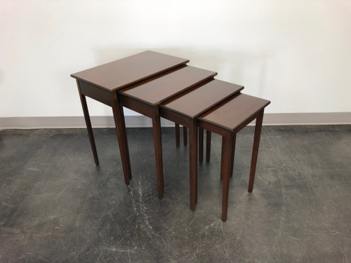 Traditional Federal Style Mahogany Nesting Tables - 4