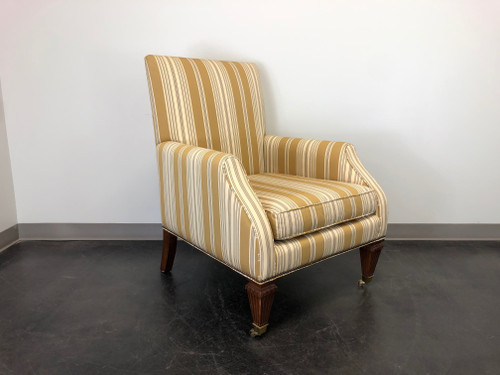 BAKER Occasional Accent Lounge Chair on Brass Casters