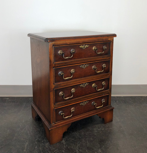SOLD - Diminutive Burl Walnut Chippendale Style Chest / Nightstand