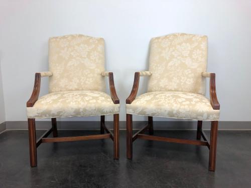 Vintage Mahogany Chippendale Martha Washington Chairs - Pair