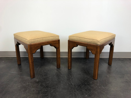 ETHAN ALLEN Chinoiserie Footstools - Pair