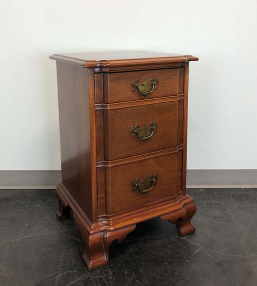 KLING Golden Mahogany Chippendale Block Front Nightstand