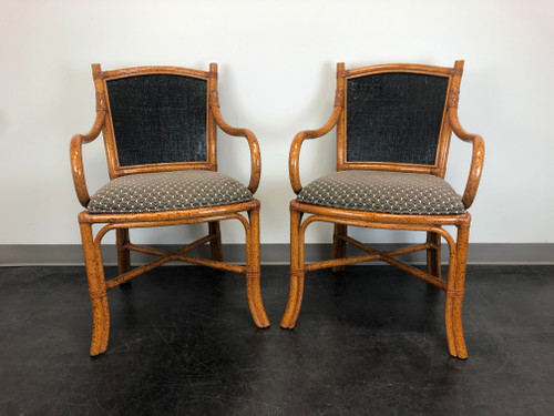FONG BROTHERS Faux Bamboo Dining Chairs - Pair A