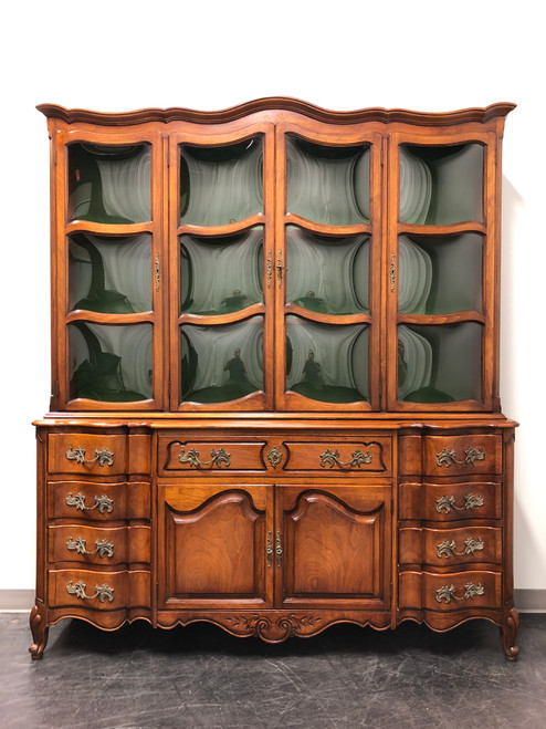 Vintage French Country China Cabinet / Secretary