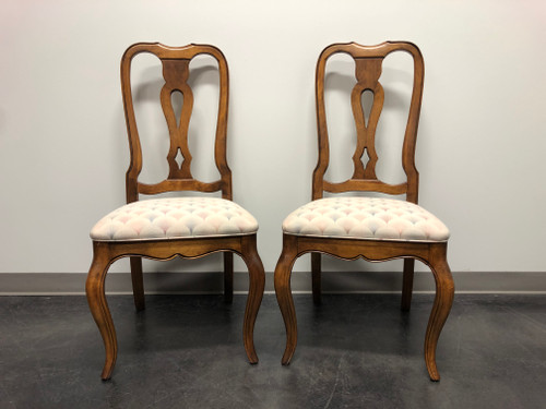 ETHAN ALLEN French Country Dining Side Chairs - Pair 1