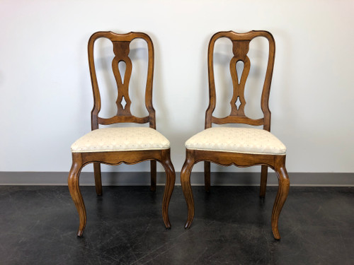 ETHAN ALLEN French Country Dining Side Chairs - Pair 2