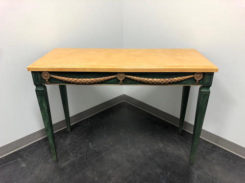 HICKORY WHITE Green and Gold Neo-Classical Style Console Table