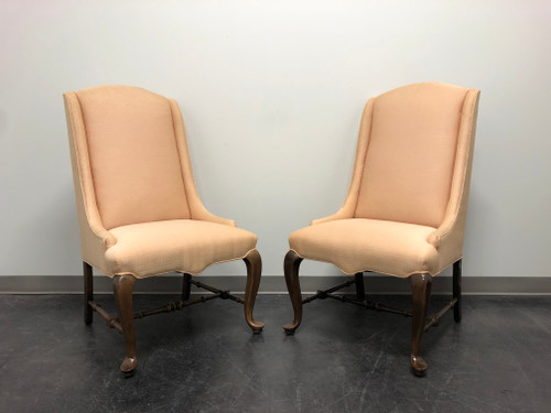 ETHAN ALLEN Traditional Classics Queen Anne Parsons Chairs - Pair