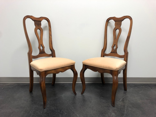 ETHAN ALLEN French Country Dining Side Chairs - Pair 5