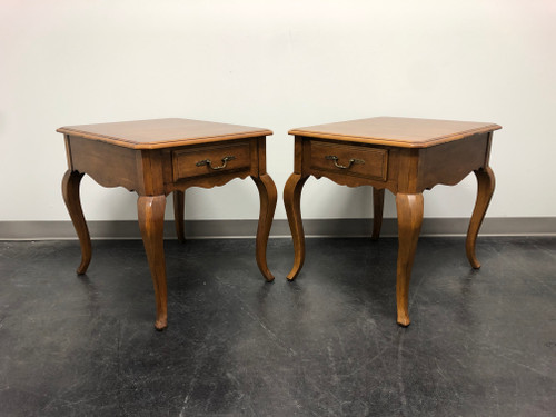 ETHAN ALLEN French Country End Side Tables - Pair