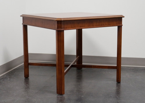 DREXEL HERITAGE Yorkshire Yew Wood Chippendale Accent Table