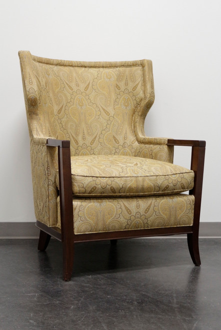 """BAKER """"Manor"""" Transitional Wing Chair in Paisley - BA6348 2"""