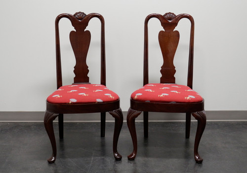 SOLD - HICKORY CHAIR Queen Anne Style Dining Side Chairs - Pair 3
