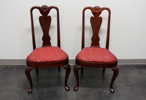 SOLD - HICKORY CHAIR Queen Anne Style Dining Side Chairs - Pair 1