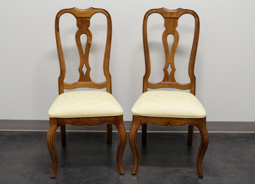 ETHAN ALLEN French Country Dining Side Chairs - Pair 3