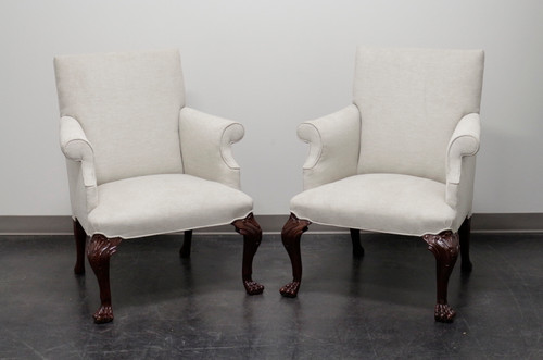 BAKER Georgian Style Armchairs with Paw Feet - Pair