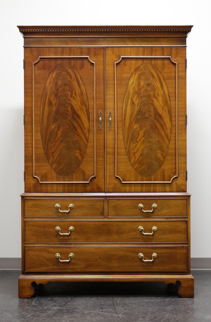 SOLD - HICKORY CHAIR Historical James River Plantations Chippendale Mahogany Armoire / Linen Press