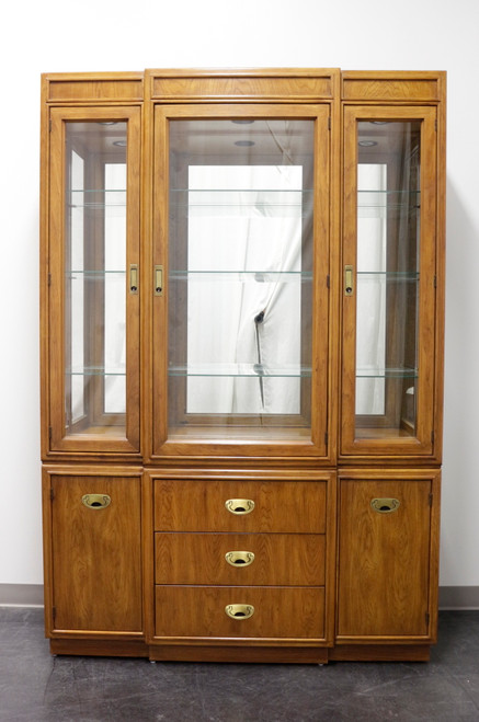 DREXEL HERITAGE Passage Campaign Style China Cabinet