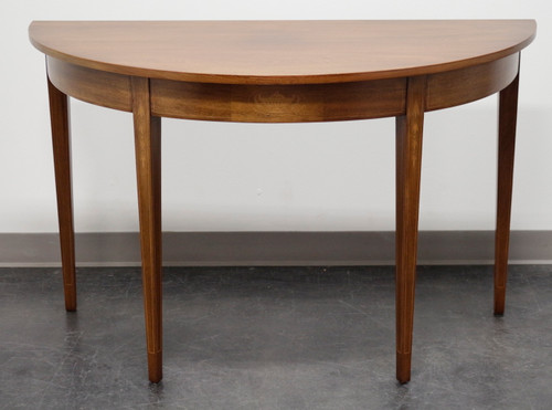 SOLD - Mahogany Hepplewhite Style Demilune Console Table