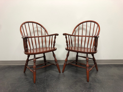 Solid Cherry Windsor Armchairs - Pair 1