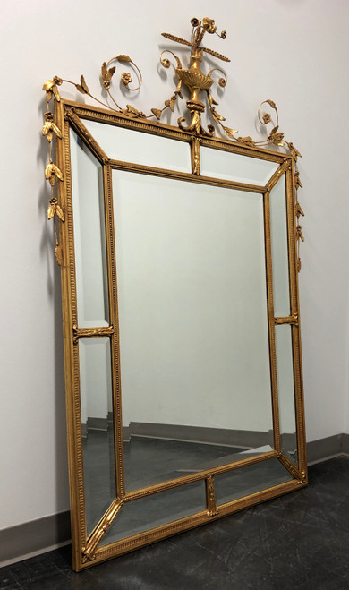 "Friedman Brothers Gold Gilt Louis XVI Beveled Mirror ""The Dorset-Cromwell"""