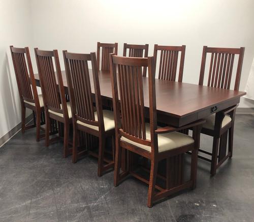 Le Meuble Villageois Mission Oak Dining Set - Table + 8 Chairs