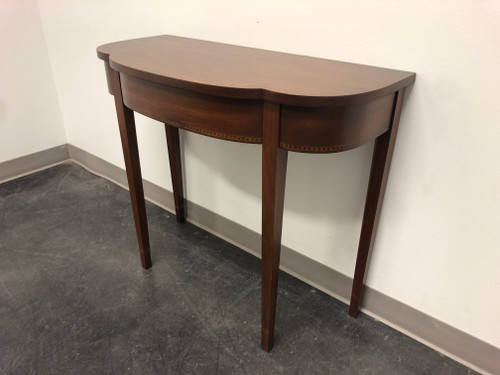 SOLD - Benchmade Inlaid Mahogany Hepplewhite Style Console Table