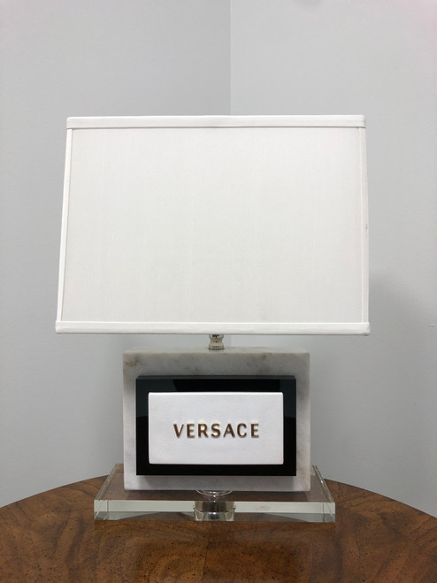 VERSACE Marble and Acrylic Lamp