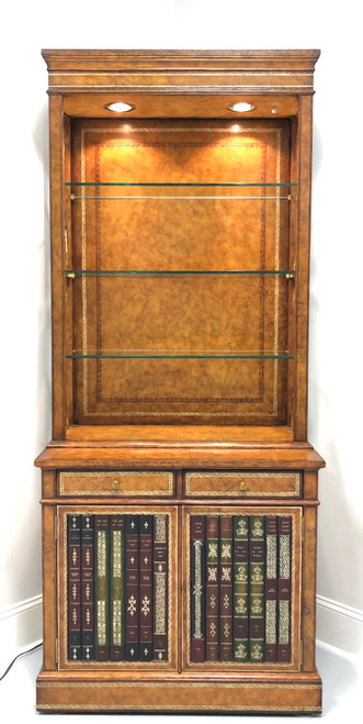 MAITLAND SMITH Tooled Leather Etagere / Bookcase