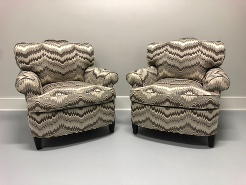 CHARLES STEWART Transitional Style Club Chairs - Pair