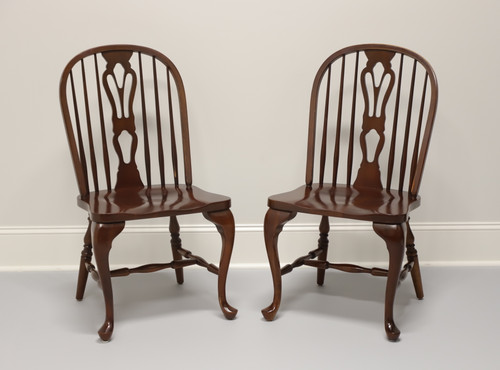 Solid Cherry Windsor Side Chairs by Cochrane