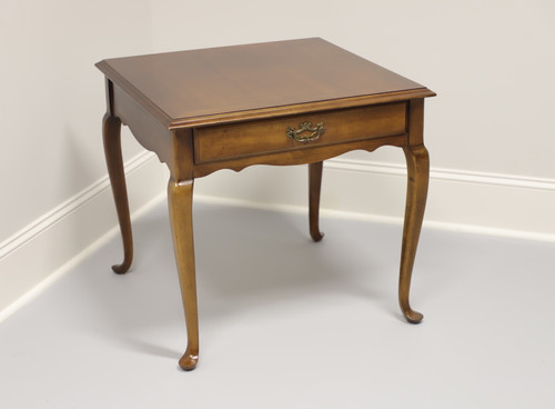 Cherry Queen Anne Square End Table by Lane
