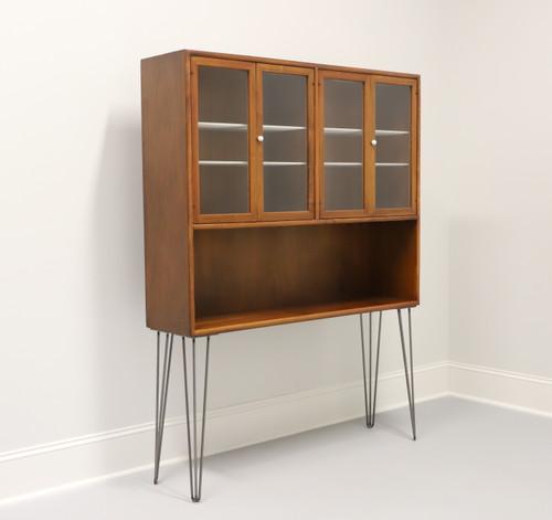 DREXEL DECLARATION MCM Walnut Bookcase / Hutch with Hairpin Legs