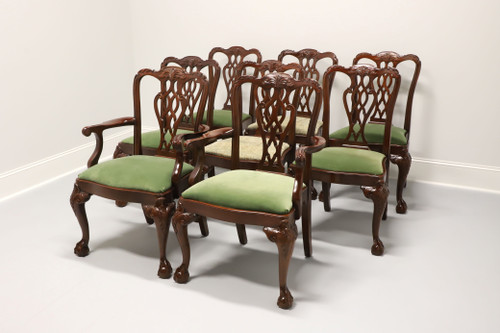 LEXINGTON Solid Mahogany Chippendale Style Ball in Claw Dining Chairs - Set of 8