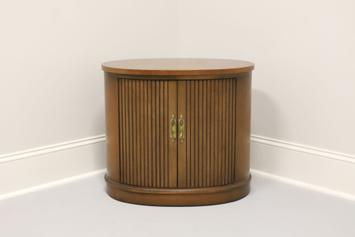 DREXEL Pan Tempo Mid Century Oval Accent Table Cabinet
