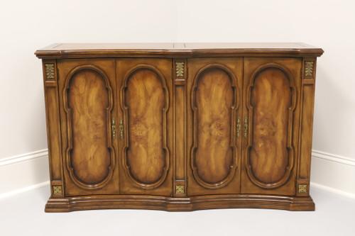 WEIMAN Mediterranean Style Burl Walnut Entry Console Cabinet