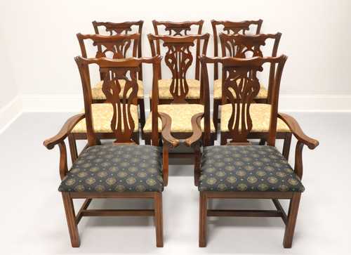 KNOB CREEK Mahogany Chippendale Dining Chairs - Set of 8