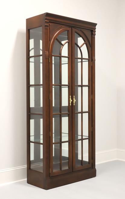 KNOB CREEK Mahogany Chippendale Curio / China Display Cabinet