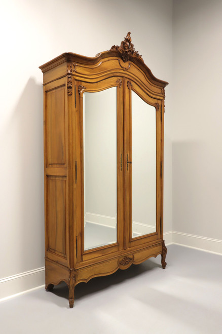 Antique 19th Century Walnut French Country Louis XV Armoire / Linen Press