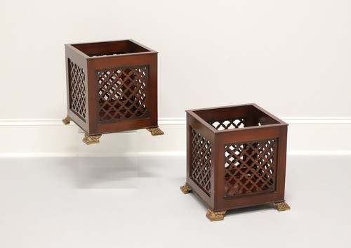 MAITLAND SMITH Mahogany Chippendale Planters - Pair